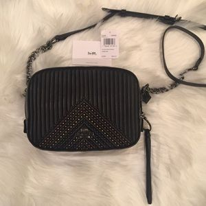 Coach quilted camera bag new with tags
